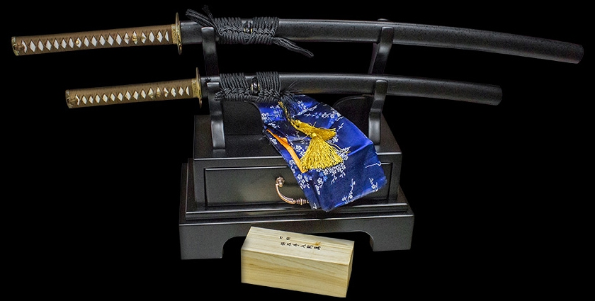 Подарочный комплект мечей TSUNAMI Inadzuma Бамбук (катана и вакидзаси)